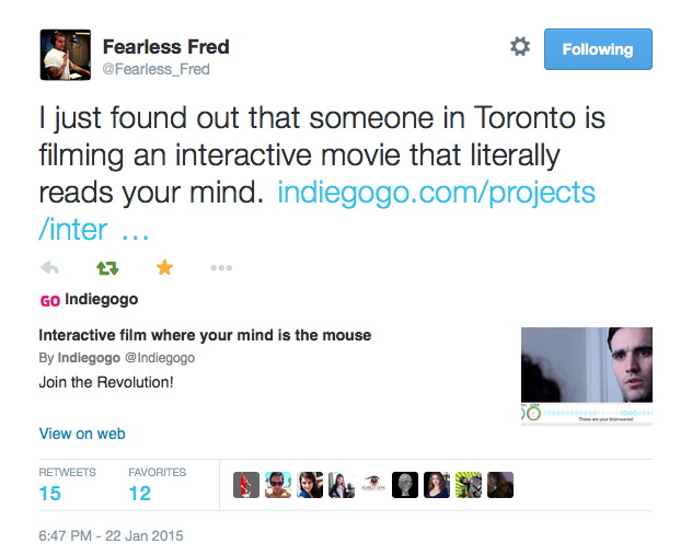 Fearless Fred Tweet